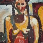 Автопортрет, бумага, гуашь, 80х60см, 1983 г.