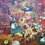 """""""Безумная Грета"""",(по картине Питера Брейгеля) холст-масло, 165-200см, 2004 г"""