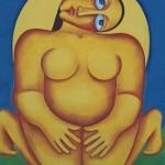 Женщина-солнце х.м. 100х70см 1999 г.