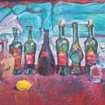"""""""Натюрморт с бутылками"""", холст-масло, 57-70см, 2003 г."""