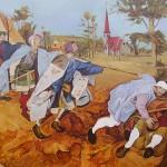 """""""Притча о слепых"""" (по картине Питера Брейгеля), холст-масло, 82-123см, 2004 г."""